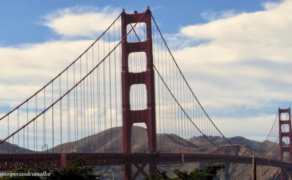Diferentes ângulos da Golden Gate para fotografar