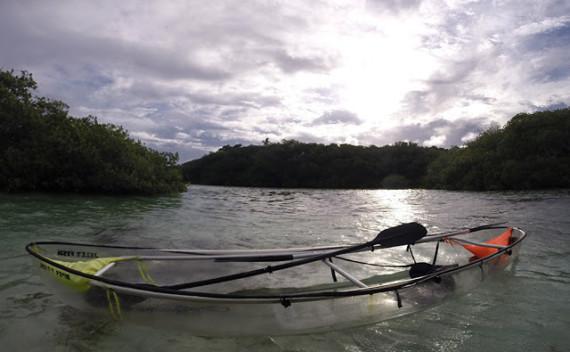 Ecofiwi – aventura de andar de caiaque transparente em San Andrés