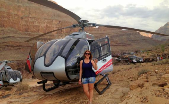 Passeio no Grand Canyon de helicóptero saindo de Las Vegas em bate e volta