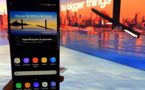Samsung Galaxy Note8 promete revolucionar o mercado de smartphones